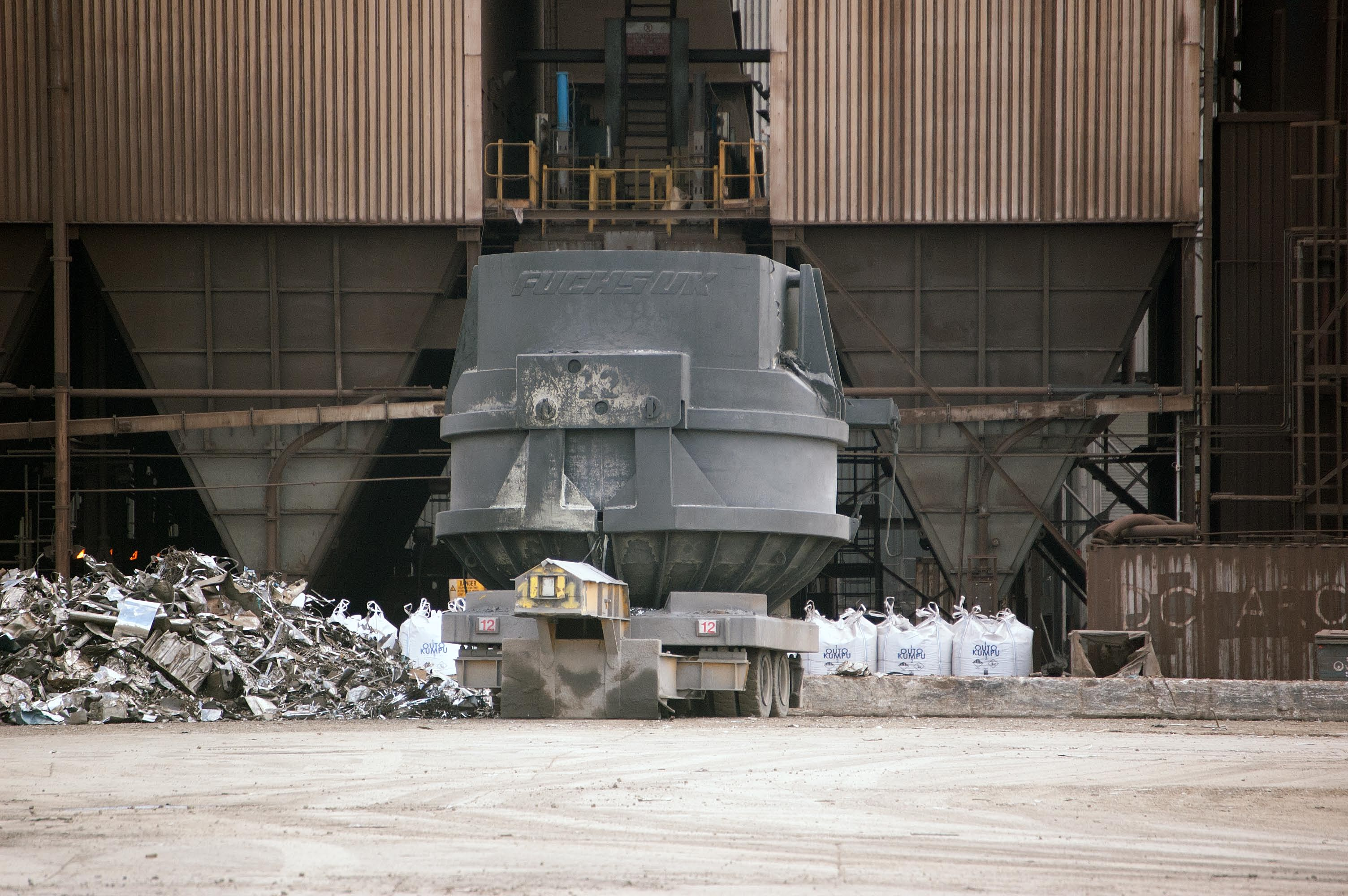 Outokumpu Steelworks during Clan Line's visit