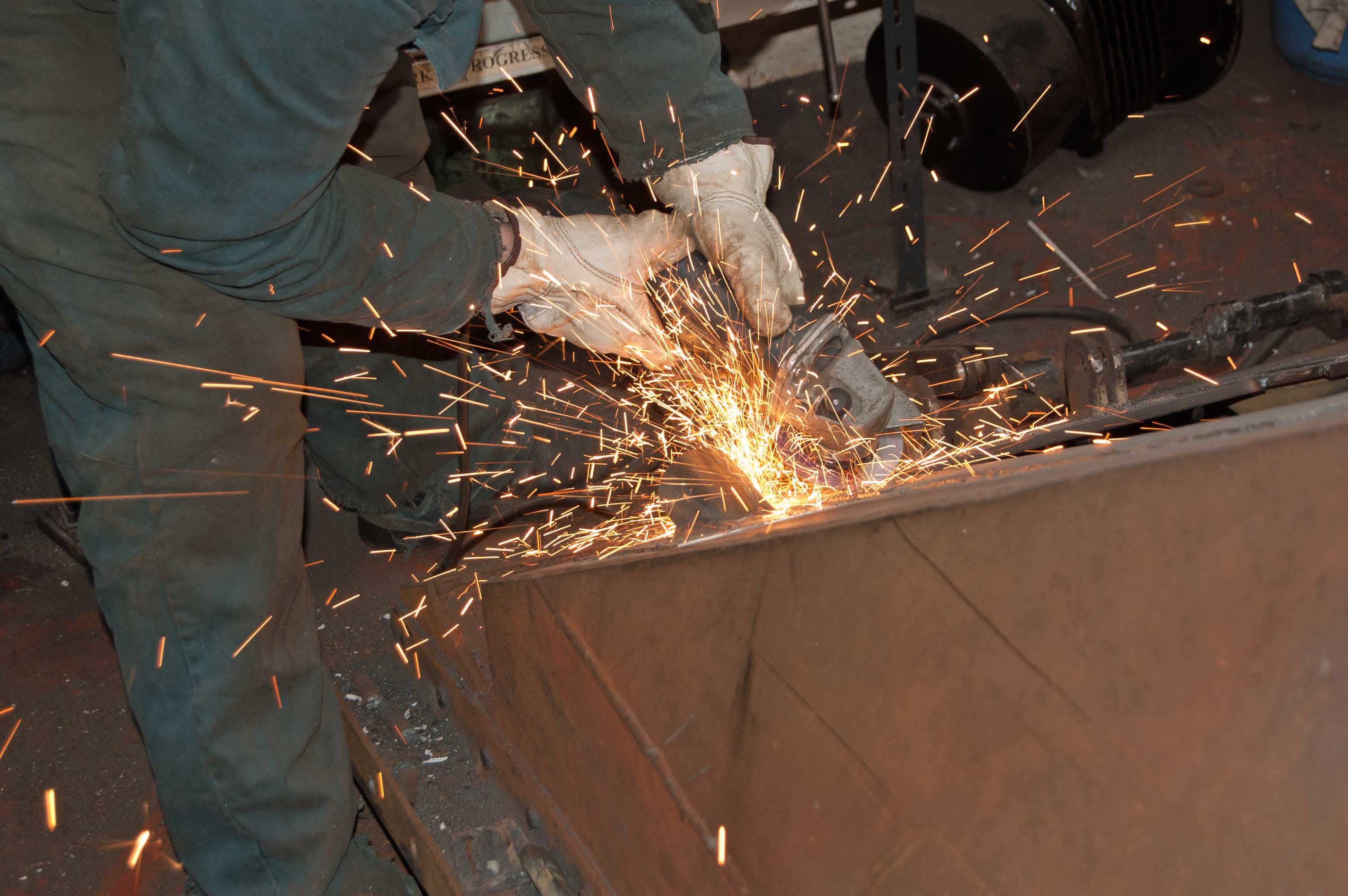 A lot of work with an angle grinder is needed before and after welding